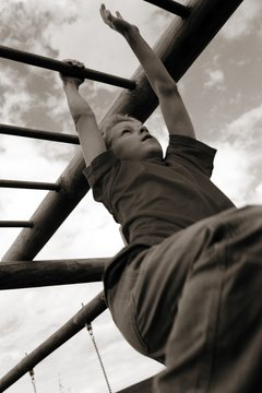 Monkey bars: not just for kids anymore.