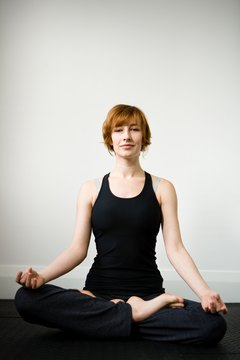 Lotus pose is a classic yoga pose that supports the ankles.