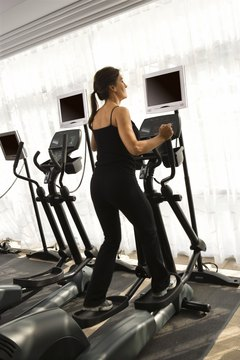 Gyms may have just one type of elliptical machine.