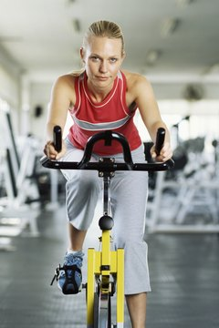On a spin bike, you can mimic climbing or sprinting.