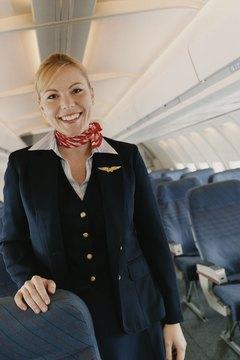 Flight attendants stay active.