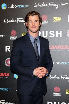 "Chris Hemsworth sports stubble at ""Rush"" the Movie Rome Premiere in Rome, Italy."