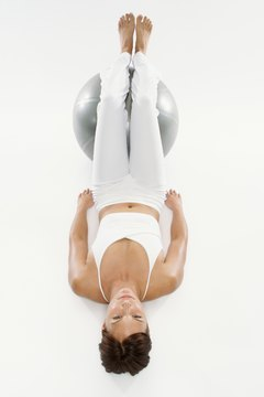 A stability ball can help tone your tush.