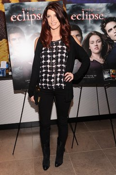 """""""Twilight"""" star Ashley Greene elongates her frame with the right boot-jeans pairing at an event in New York in 2010."""