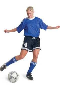 Practice using game-like exercises and drills to prepare for soccer tryouts.