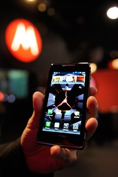 The Droid Razr Maxx features a notification light at the top right of the phone.