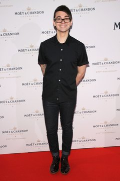 For hipster style, you can't go wrong with skinny jeans and a tight-fitting shirt, the choice of fashion designer Christian Siriano at an event in New York in August 2013.