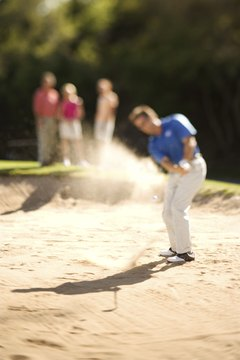 Assess the situation to determine which type of shot to hit from the sand.