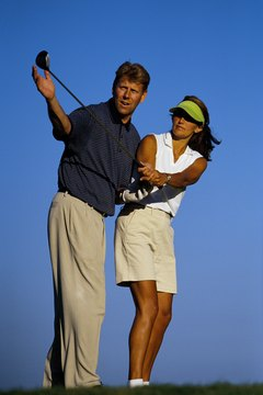Proper weight distribution and posture are essential to a good swing.
