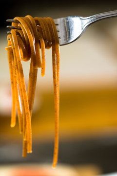 Whole-grain pasta has more fiber and fewer calories than white pasta.