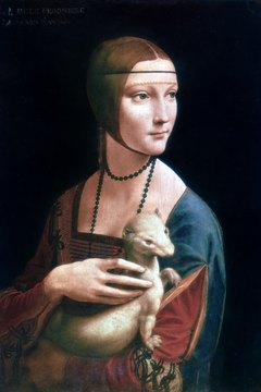 The ermine in Leonardo's portrait symbolizes both the lady and her lover.