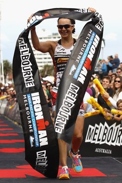 About half the competitors in the some Ironman races are women.