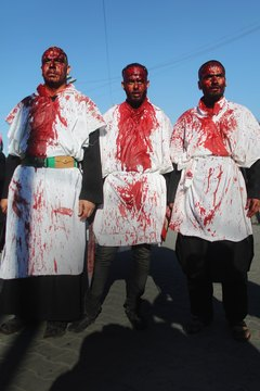 Shiite Muslims commemorate the martyrdom of Muhammad's grandson Husayn on the holiday known as Ashura.