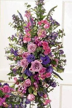 Make a Funeral Easel Flower Arrangement