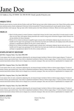 Resume Components .  Resume Layout Ideas