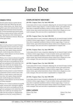 resume layout ideas career trend