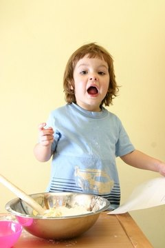 Children and pets are not allowed in a residential kitchen while it's being used for commercial purposes.