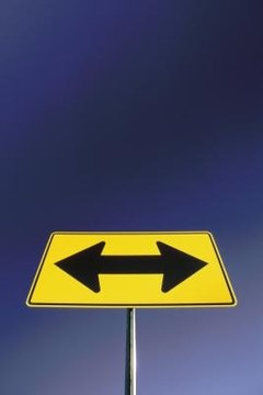 Speeches may urge someone to go left or right; a lectures explains each option.
