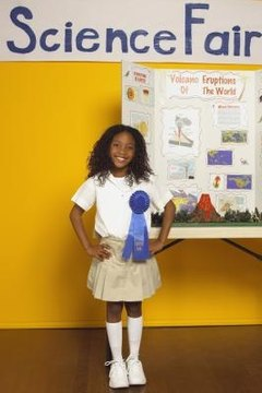 Students use the scientific method for school science fairs.