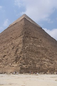 The pyramids are some of the largest examples of early stone construction.
