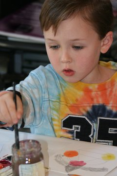 Art projects help children learn about people in their community.