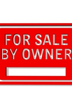 Red for-sale-by-owner sign