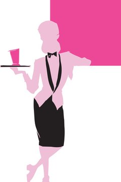 Waitressing is an example of a traditionally pink-collar job.