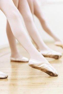 Ballet dancers practice steps