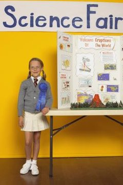 Communicate your results with a display board and a model or props.