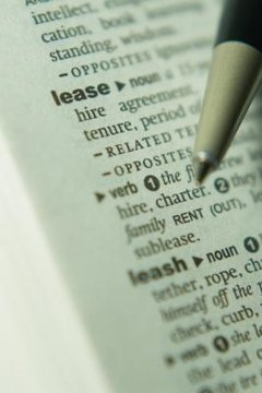 Know the terms of the lease.