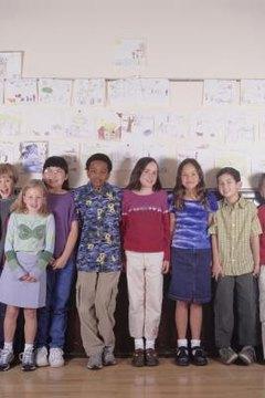 tweens in fron of classroom wall