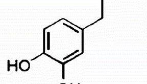 Estructura química de la dopamina, un neurotransmisor.