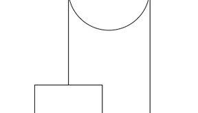 Sistema de poleas con dos bloques suspendidos.