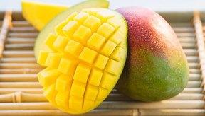 Los mangos contienen mucha fibra.