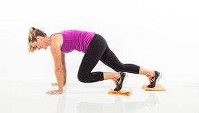 6. Escaladas corredizas en posición inclinada (Plank Sliding Climbers)