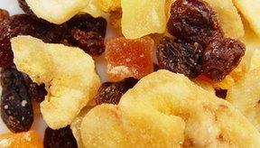 Las frutas secas proporcionan el azúcar necesaria durante una competencia.