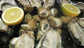 Las ostras son una buena fuente de zinc.