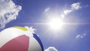 Una gran pelota inflable de playa puede ser un elemento muy útil en una fiesta infantil.
