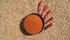 El chile en polvo está hecho del chile picante seco.