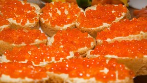 El alginato de sodio puede ser utilizado como un sustituto del caviar.