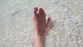 Curas para uñas en las uñas de los pies.