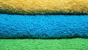 Las toallas de tela de rizo son absorbentes.