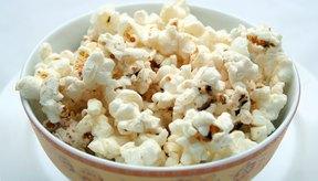 Las palomitas de maíz son bajas en calorías y ricas en fibra.