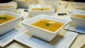 La sopa sin trozos sólidos está en el menú.