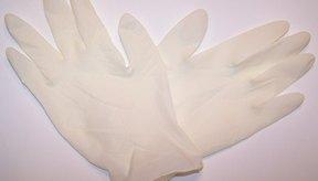 Los guantes de látex sólo afectan ligeramente tu sentido del tacto.