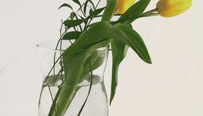 Floreros llenos de agua y flores frescas pueden ayudar a humidificar una habitación.