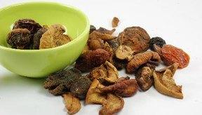 La fruta liofilizada contiene una gran cantidad de nutrientes concentrados.