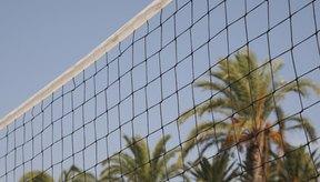 La altura de la red es la misma para el voleibol de salón y de playa.