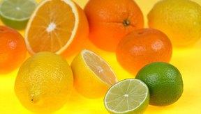 Las frutas cítricas son una buena fuente de ácidos ascórbico y cítrico.