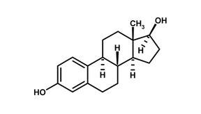 El estradiol es una hormona producida en el cuerpo humano tanto en hombres como en mujeres.